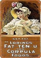 金属装飾ティンサイン、脂肪を取得-ビンテージの外観の複製金属ティンサイン楽しいティンサインバー居酒屋ガレージディナーカフェ家の壁の装飾アールデコポスター