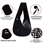 FDJASGY Small Pet Sling Carrier-Hands Free Reversible Pet Papoose Bag Tote Bag with a Pocket Safety Belt Dog Cat for Outdoor Travel Black 12