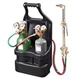 Yescom Portable Weld Torch Tank Kit Twin Tote Oxygen Acetylene Oxy Cutting Brazing Welding Goggles DOT