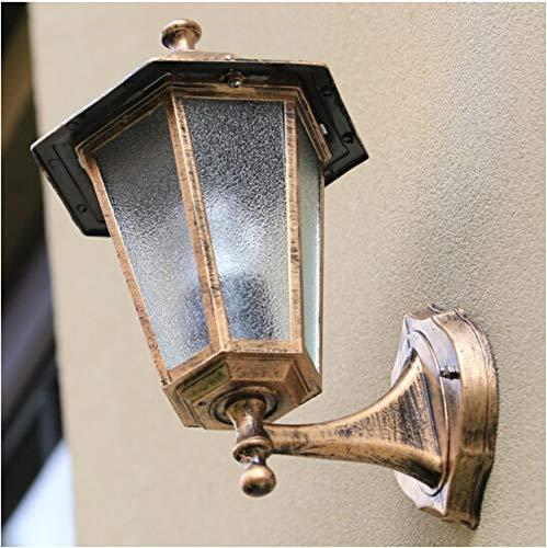 Vloerlamp traplicht straatlamp buitenlamp wandlamp brons oranje glazen schaal