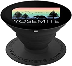 Yosemite National Park Vintage Retro Half Dome El Capitan  PopSockets Grip and Stand for Phones and Tablets