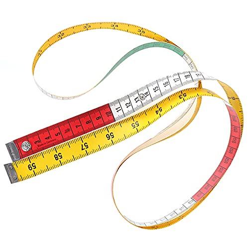 Cinta métrica para medir el cuerpo de 1,5 m, cinta métrica para coser y sastres, mini regla plana suave, centímetro medidor de costura, cinta métrica de China, 1,5 m