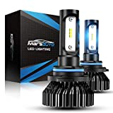 Marsauto 9006 LED Headlight Bulbs HB4 HB4U 9006XS 8000LM 6000K Low Beam Fog Light Head Light Bulb 12 CSP Chips Cool Bright Pack of 2