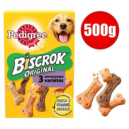 Pedigree Scatola biscotti per cane biscrok 500g–prezzo unitario–Spedizione Veloce e pulita