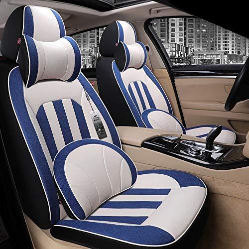 AXZT autostoelbekleding van leer, complete set met opblaasbare universele stofzuigerzakken, voor en achter, comfortabel en ademend, zwart