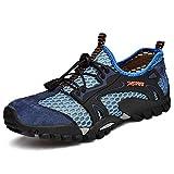 FLARUT Men's Sandals Barefoot Hiking Shoes Quick Dry Lightweight Outdoor Training Water Walking Shoes (Blue, EU42)