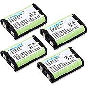 URPOWER Pack of 4 900mAh 3.6V Ni-Mh Cordless Home Phone Battery HHR-P107 for Panasonic BB-GT1500 BB-GT1540 BB-GT1540B BB-GTA150 BB-GTA150B BB-GT1500B(Green, Lifetime Warranty, Bulk Packaging)