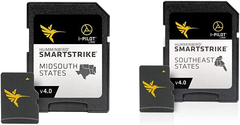 Humminbird 600009-8 LakeMaster Midsouth States Plus V3 Digital GPS Maps Micro Card, Black & 600023-7 LakeMaster Southeast States Plus V3 Digital GPS Maps Micro Card