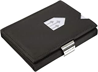 Leather Trifold Wallet Nubuck RFID w/Stainless Steel Locking Clip