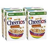 Nestlé Multi Cheerios, knusprige Ringe aus Weizen, Mais, Hafer & Gerste, Cerealien zum Frühstück, mit Milch & Joghurt genießen, 4er Pack (4 x 375g) -