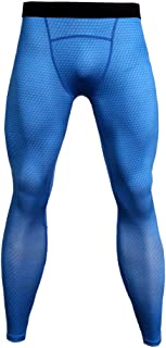 RONSHIN Men's Snake Skin Fitness Sports Training Running Quick-Drying Stretchy Tight Pants