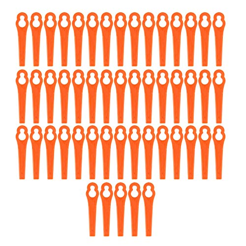 50x Kunststoffmesser Freischneider Elektrosense Ersatzmesser Kunststoff Ersatz Messer Klingen Wechsel Schneid fuer Einhell Akku Rasentrimmer Trimmer Rot