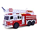 Product Image of the Fire Truck Motorized with Lights, Siren Sound, Working Water Pump and Rotating...