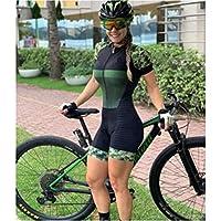 サイクリングスーツ女性の職業トライアンロンスーツの服サイクリングスキンスーツロンパースジャンプスーツキット夏 (Color : 085, Size : X-large)