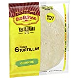 Old El Paso Restaurant Grande Flour Tortillas, 21.5 Ounce (Pack of 5)