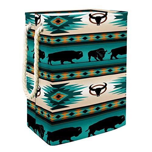 Nobrand Bison Wäschekorb für Wäschekorb, integriertes Futter mit abnehmbaren Klammern, faltbarer Wäschesammler für Spielzeug und Kleidung