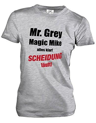 Jayess MR. Grey - Magic Mike - Alles KLAR Scheidung LÄUFT - Grau Meliert - Women T-Shirt by Gr. XXL