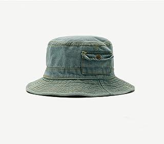 Foldable Denim Bucket Hat Cotton Washed Fishing Hunting Cap Outdoor Beach Fisherman Panama Women'S Bucket Hat
