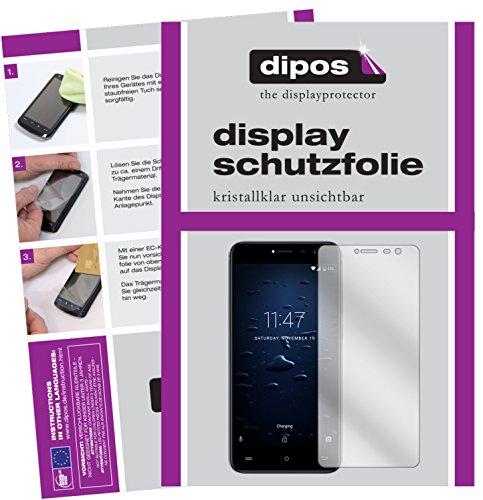 dipos I 2X Schutzfolie klar kompatibel mit Cubot Note Plus Folie Displayschutzfolie