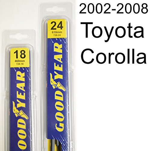 Toyota Corolla (2002-2008) Wiper Blade Kit - Set Includes 24' (Driver Side), 18' (Passenger Side) (2 Blades Total)