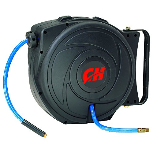 Campbell Hausfeld Air Hose Reel with Retractable 50 Foot Air Hose...