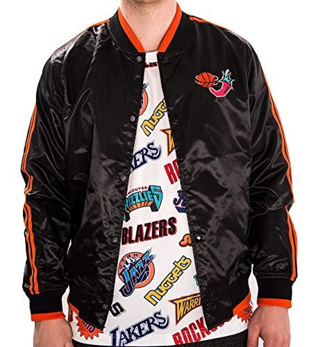 Mitchell & Ness Herren NBA All Star Satin Jacke, Schwarz Mehrfarben, xl