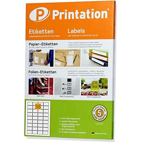 Universal Etiketten 45 x 30 mm weiß abgerundete Ecken selbstklebend auf 100 DIN A4 Bogen à 4x9 45x30-5052