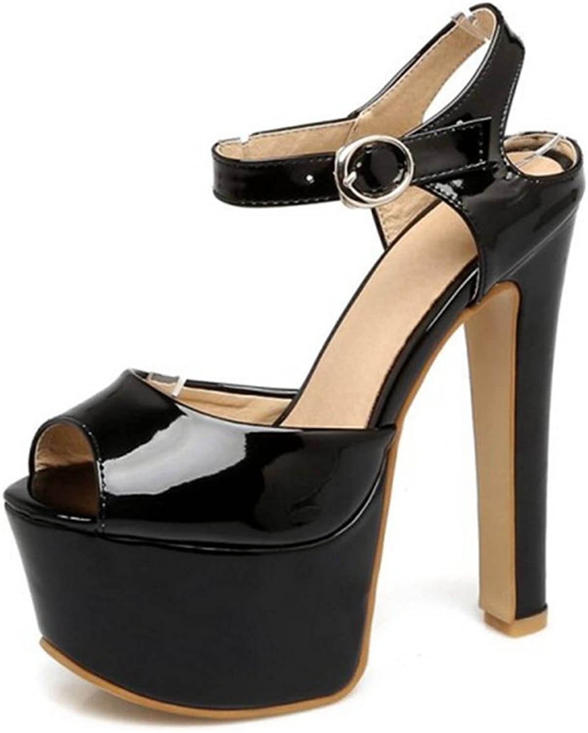 CUTEHEELS Sexy Heels with Stiletto and Thick Platform Wedding Party shoes with Large for Evening Party
