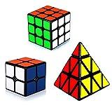 Maomaoyu Cubo Magico de la Velocidad Set, Cubo 2x2 3x3 Pyraminx ,Caja...