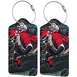 Dataqe - Etiquetas para equipaje para cubierta de privacidad de 2.87 x 4.57 pulgadas (hombre en disfraz de Papá Noel con equipo de buceo dentro del acuario), Negro (Negro) - Asfgs534-43410973