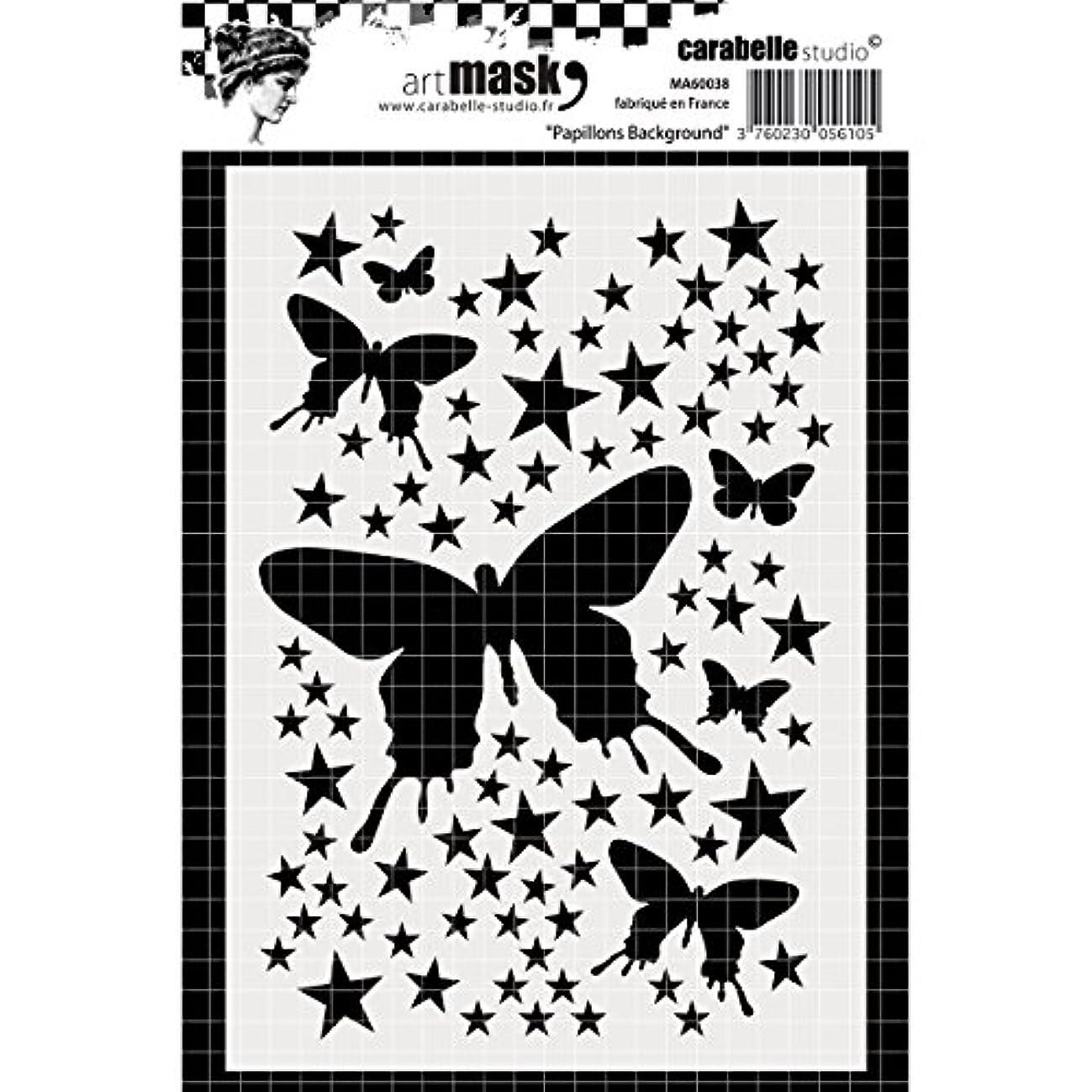 Carabelle Studio A6 Mask Stencil-Butterflies Background, White/Transparent