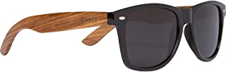 Zebra Wood Sunglasses with Polarized Lens in Bamboo Tube Packaging