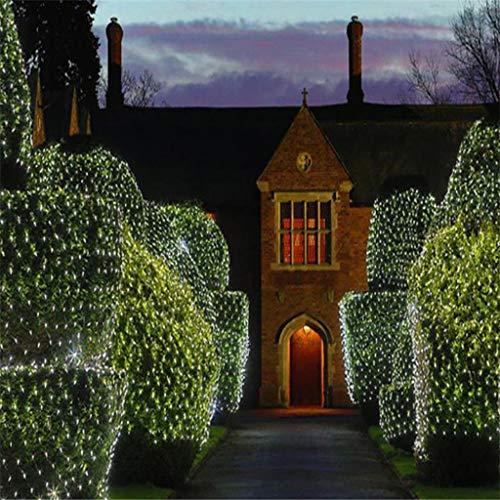 Led-lichtnet lichtketting, buitenverlichting waterdichte snoer lampen met 8 modi dimming, kerstboom tuin of binnen.