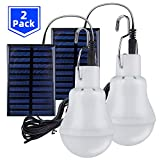 2 Stück Solar Glühbirne,TechKen Solarlampe LED Licht Tragbare Birne Solarlampen Lämpchen 3 W,3 m...