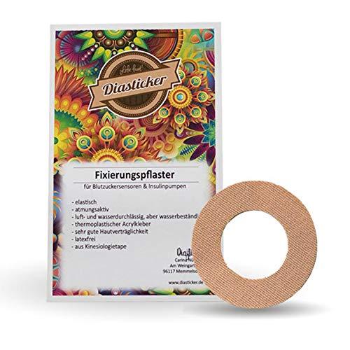 Diasticker®   Freestyle Libre Fixierpflaster - Ring (10 Stück, Beige)   Wasserfest - Atmungsaktiv - Starker Halt   Pflaster, Sensor-Patch, Fixierung, Tape   5 Stück, 10 Stück, 25 Stück   Farbauswahl