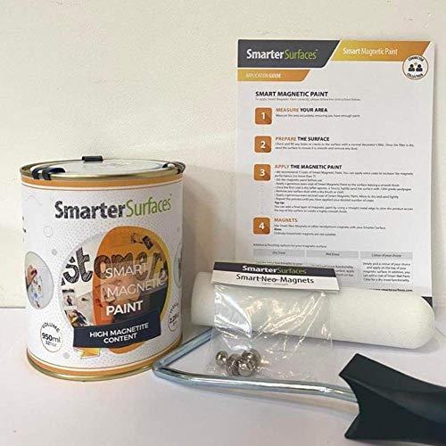 Peinture Magnétique Smart 3m² - Couleur Grise - Peinture Pour Créer Des Surfaces Aimantées...