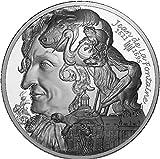 Power Coin Jean De La Fontaine Art De La Plume 1 Oz Moneda Plata 20€ Euro France 2021