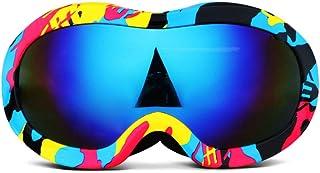 Yxx max Gafa Deportiva Gafas de esquí para niños Doble Capa antivaho Niños y niñas Gafas Grandes esféricas Montañismo Gafas Invierno