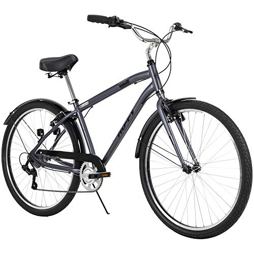 Hyde Park Mens Comfort Bike, 7 Speed, 27.5 Inch Wheels, Matte Storm