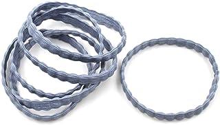 Rougecaramel Gumki do włosów, płaskie, niebieskie, 6 sztuk