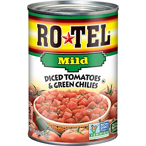 ROTEL Mild Diced Tomatoes and Green Chilies, 12 Pack Now $8.00