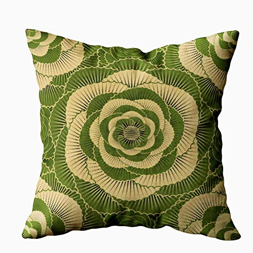 Gypsophila Decorative Throw Pillow Case, Baby Pillows Covers Sketching Vintage Flowers My Garden 20X20 Inches Indoor Outdoor Pillowcases for Sofa Home Bed