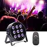 U`King ステージライト 9 x 10W LED 舞台照明 パーライト RGBW 4 in 1 Par Lights ディスコライト 音声起動 自動付き DMX512 リモコン 演出/ミラー ボール/ホームパーティー/ディスコ/KTV/結婚式/クラブ