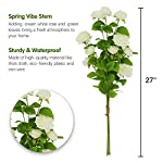 """ynylchmx white aritifical flowers, fake flower, floral stems artificial rose greenery branches for wedding bouquets centerpieces, floral arrangements, vase, 27"""", 2 branches"""
