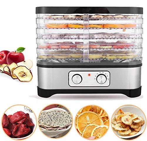 Bunao Deshidratador de Alimentos, Máquina Deshidratadora de Alimentos Eléctrica, Creador de Carne deshidratada, Deshidratador de Vegetales y Frutas, 5/7 bandejas apilables, 250W (Typ2_5 apilables)