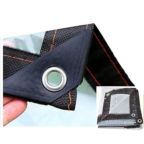 LIANGJUN Tarpaulin Waterproof Heavy Duty Transparent Plastic Waterproof Tear Resistance Cover Window Garden Gazebo, 100g / M² (Color : A, Size : 4.05X5M)