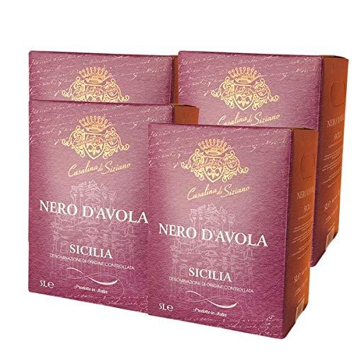 Rotwein Italien Nero d`Avola Codici Bag in Box trocken (4x5L)