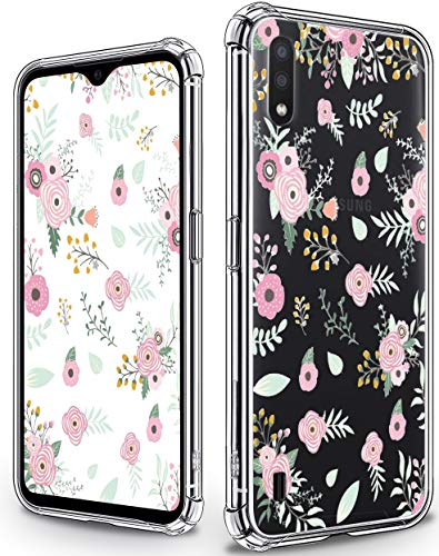 YESPURE Case for Samsung Galaxy A01, Floral Wild Flower Design Girls Women Bumper Soft TPU Shockproof Protective Cover with Hard PC Back Case for Samsung Galaxy A01 - Wild Flower