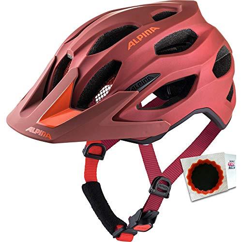 Alpina+TipTop Fahrradhelm Carapax 2.0 Gr. 52-57cm + Flicken Indigo Cherry Drop
