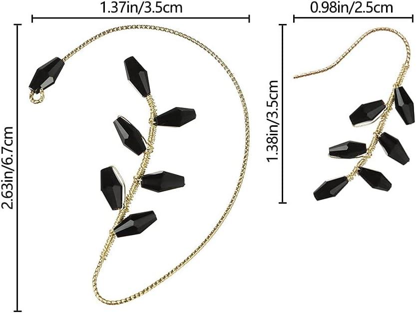 Triangle-Box Vintage Ear Cuff Earrings Wrap Around Crawler Earrings for Women Girls Non Piercing Gift KMJU 2